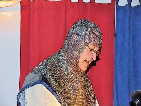 Herzog Walthari von Lilienkron bei einem seiner vorzüglichen Vorträge