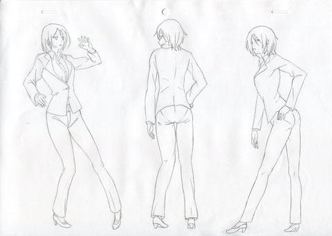 確か模写、スーツはエロい最近渡辺さんの本買ったから萌絵系の絵も練習しよう中割りで挫折しそうになる