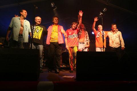 Die GLITTER TWINS:  DANKE 2009: v.l.n.r.   Rolf Bussalb, Didi Müller, Achim Farr, Fips Schmidt, Achim Schnall, Kläus Schmidt, Klaus Bussalb.