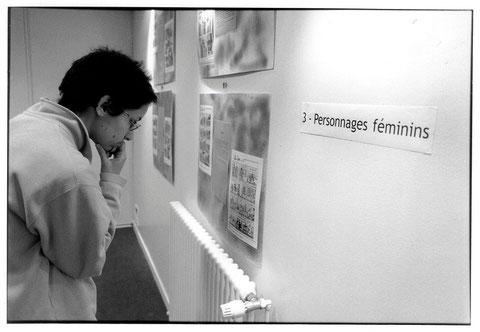 Stage de BD à l'Espace Simone de Beauvoir, 2003.