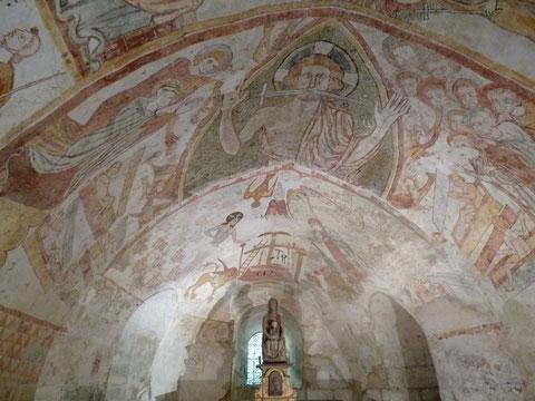 Gargilesse, fresques de la crypte de Notre Dame