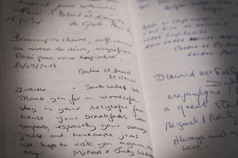 Livre d'Or du Domaine de l'Ermitage - Berry-Bouy - Chambres d'hôtes