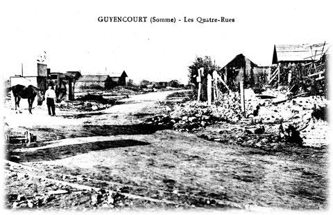 Le village détruit par les bombardements de la première guerre mondiale
