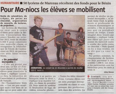 Article paru dans L'Echo le 24 février 2012