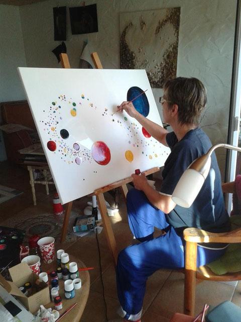 Katja Mohr - Die Künstlerin bei der Arbeit