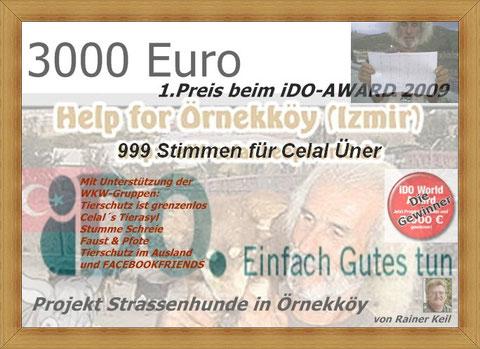1.Preis iDO-Award, Rainer Keil, Hubertus von treuenfels, Achim Roehe, Örenekköy, Izmir, Projekt Strassenhunde in Örnekköy