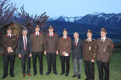 Beförderung zum Oberfeuerwehrmann: FM Florian STOCKER, FM Alexander LENTNER und FM David SCHALLER