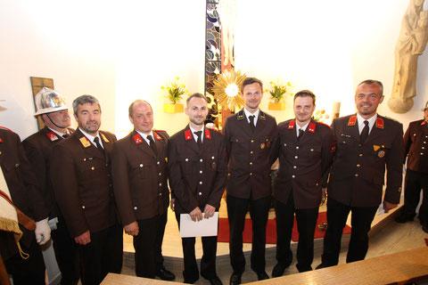 Daniel Scherer wurde zum Oberfeuerwehrmann befördert