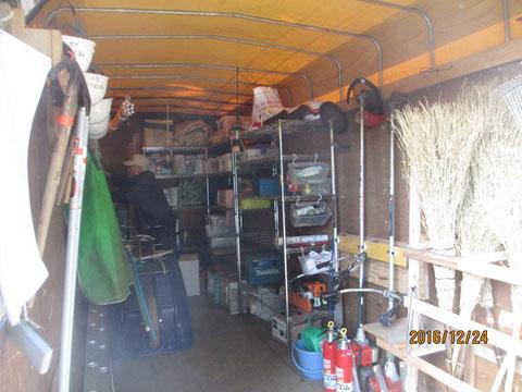 機材倉庫の整頓もできました