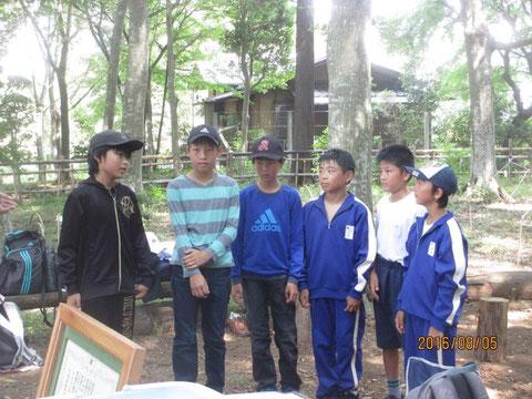 夏ボラ体験に参加した6名の中学一年生