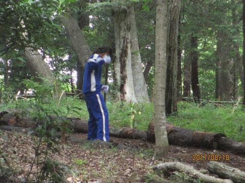 夏ボラ参加者も清掃作業から始めます