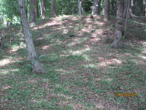 きれいに草が刈られた古墳の周辺
