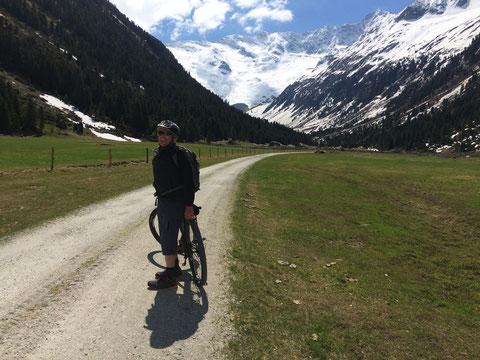 Radfahren bis zum Gletscher