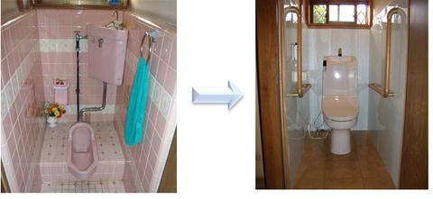 和式トイレから洋式トイレ 改修 事例