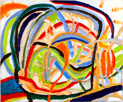 Ai Weiwei, oil on canvas, 15 by 18 in.