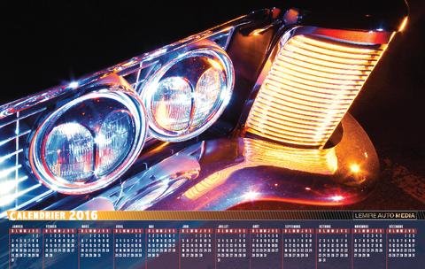 Calendrier Lemire Auto Media 2016