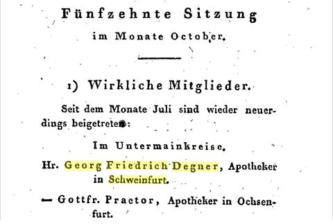 Veröffentlichung im Pharmazeutischen Intelligenzblatt 1819