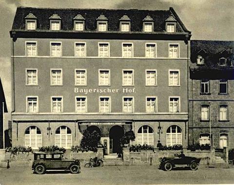 Hotel Bayerischer Hof ggü. Hauptbahnhof in Vorkriegszeit - Damaliger Inhaber Karl Dürr