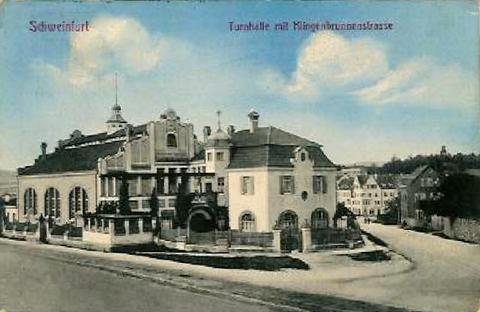 Turnhalle in der Klingenbrunnstraße ca. 1908