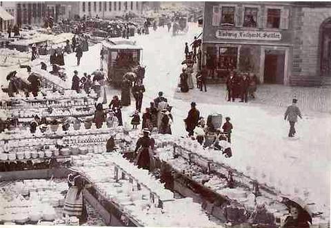 mit Blick in die Schultesstraße (Steinweg) - ca. 1910