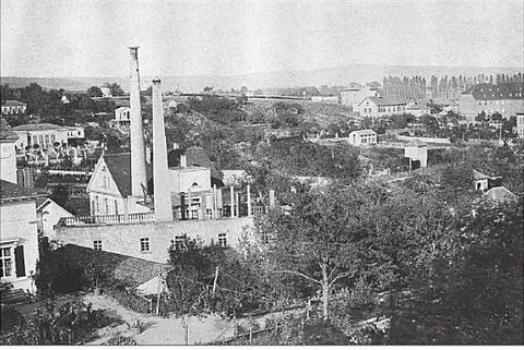 Blick vom Oberen Wall in den 1950ern