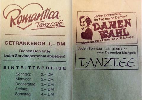 """Nachdem das Kaufhaus Kretzschmar geschlossen hat, war im oberen Stockwerk das Tanzlokal """"Romantica"""" sehr beliebt. Besonders aufgrund des steten Frauenüberschusses hatte es den Spitznamen """"Hin und mit"""""""