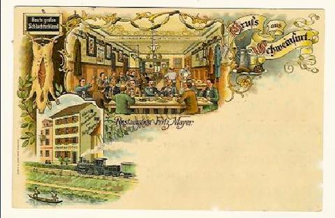 Restaurant Fritz Meyer in den 1930ern