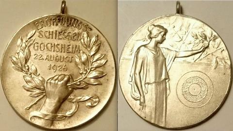 Medaille zum Eröffnungsschießen 1926 - 34mm