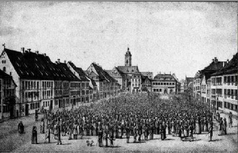 Besuch von König Ludwig I in Schweinfurt 1828