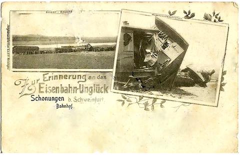 "Eisenbahnunglück - ""Erinnerungspostkarte"" Anfang 20. Jahrhundert"