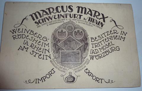 Der Weingroßhänler Marcus Marx befand sich in den 1920ern in der Rückertstraße 17