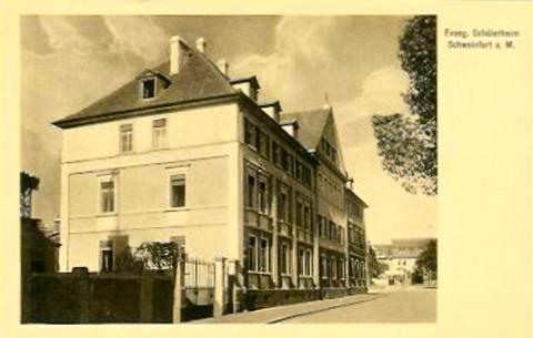 Evang. Schülerheim um 1920 - An den Schanzen