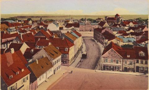 Blick vom Feuerwehrturm neben dem Zeughaus in die Manggasse - ca. 1902