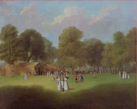 Auf dem Vogelschuss II, Gemälde von Katharina Sattler, geb. Geiger