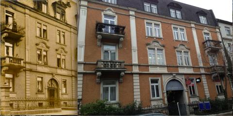 Sattlerstraße 23 - gestern und heute! - bitte vergrößern.