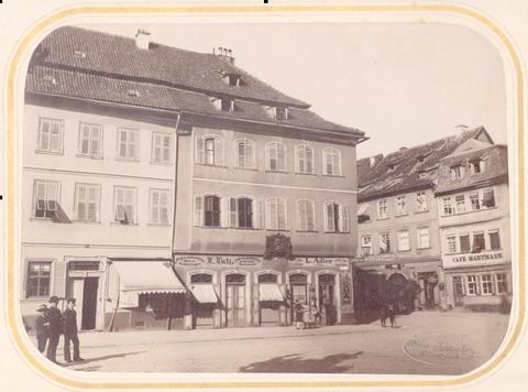Geburtshaus Friedrich Rückerts, Photo 1890; Stadtarchiv Schweinfurt