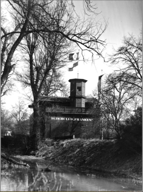 Bootshaus 1932 mit Marienbach