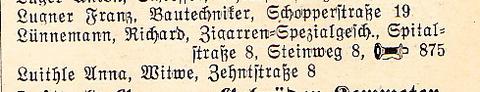 Adressbuch 1929