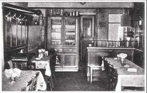 Der Gastraum in der Vorkriegszeit