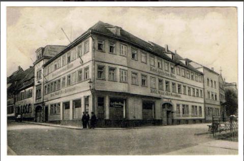 Hotel und Restaurant deutsches Haus um 1916