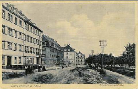 Niederwerrner Straße Schweinfurt in der Vorkriegszeit