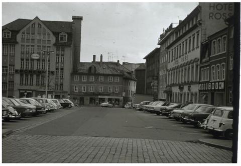 1972 - rechts Gaststätte und Hotel Ross