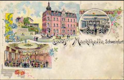 Die Markthalle am Jägersbrunnen ca. 1898