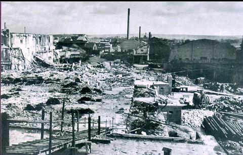 Fichtel und Sachs nach dem Bombenangriff