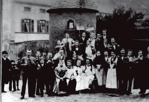 Schlachtschüsselgesellschaft Am Graben ca. Anfang 20. Jahrhundert