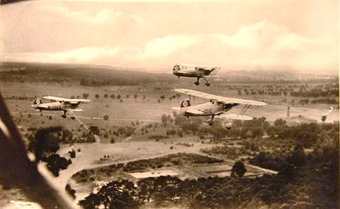 Flugzeugstaffel 1938 bei Schweinfurt