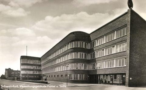 Das Verwaltungsgebäude in den 1930ern