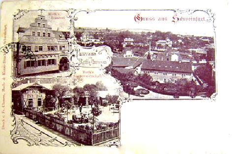 Haus Roth mit Brauerei im Jahr 1905