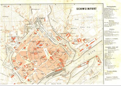 stadtplan schweinfurt 1885 schweinfurtf hrer ein f hrer durch schweinfurt und seine geschichte. Black Bedroom Furniture Sets. Home Design Ideas