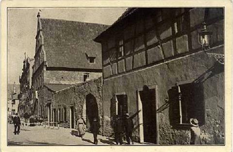 Das alte städt. Brauhaus und das Schrannengebäude am Roßmarkt